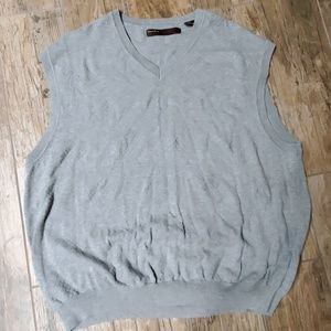 Gray Perry Ellis Sleeveless pullover v-neck Sweate